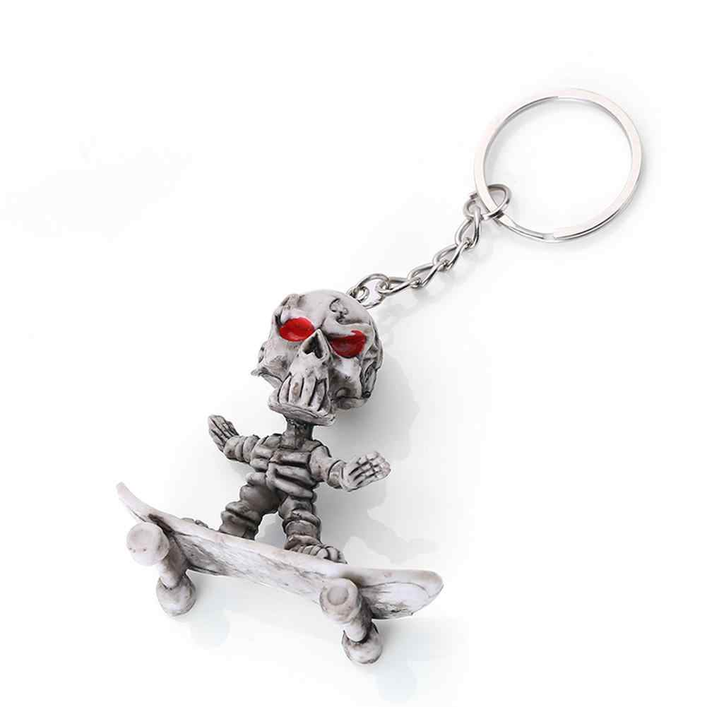 Car Decoration Pendant Skateboard Key Chain Skeleton Key Ring Innovative Gifts Wholesale Purchasing