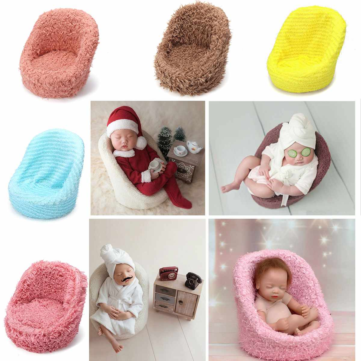 Children's Studio Photography Props Photographing Newborn Chair Sofa Decor Mini Baby Sitting Chair Infant Birth Shooting Tool
