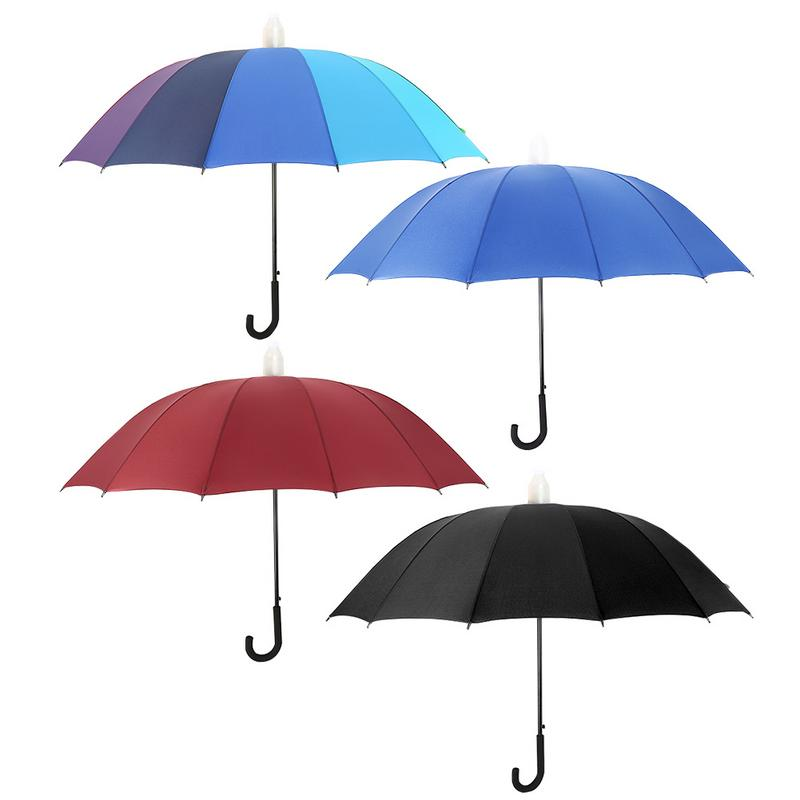 aa0ecebd1 Rainbow Automatic Open Classic Umbrella Double Canopy Vented Windproof  Large Stick Umbrellas with Crook Handle