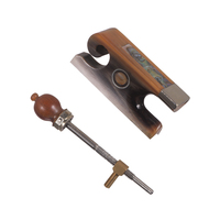 Fiddle Violin Bow Frog & Screw Set Cattle Horn Material with Beautiful Pattern for 4/4 Violin Bow, Pack of 5 sets
