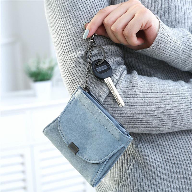 2018 Simple PU Leather Short Zipper Wall