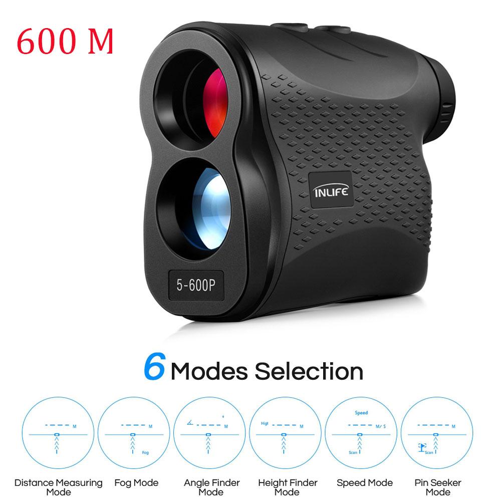600m 6X Monocular Telescope Laser Rangefinder Laser Distance Meter Handheld Monocular Golf Hunting Range Finder Tape Measure