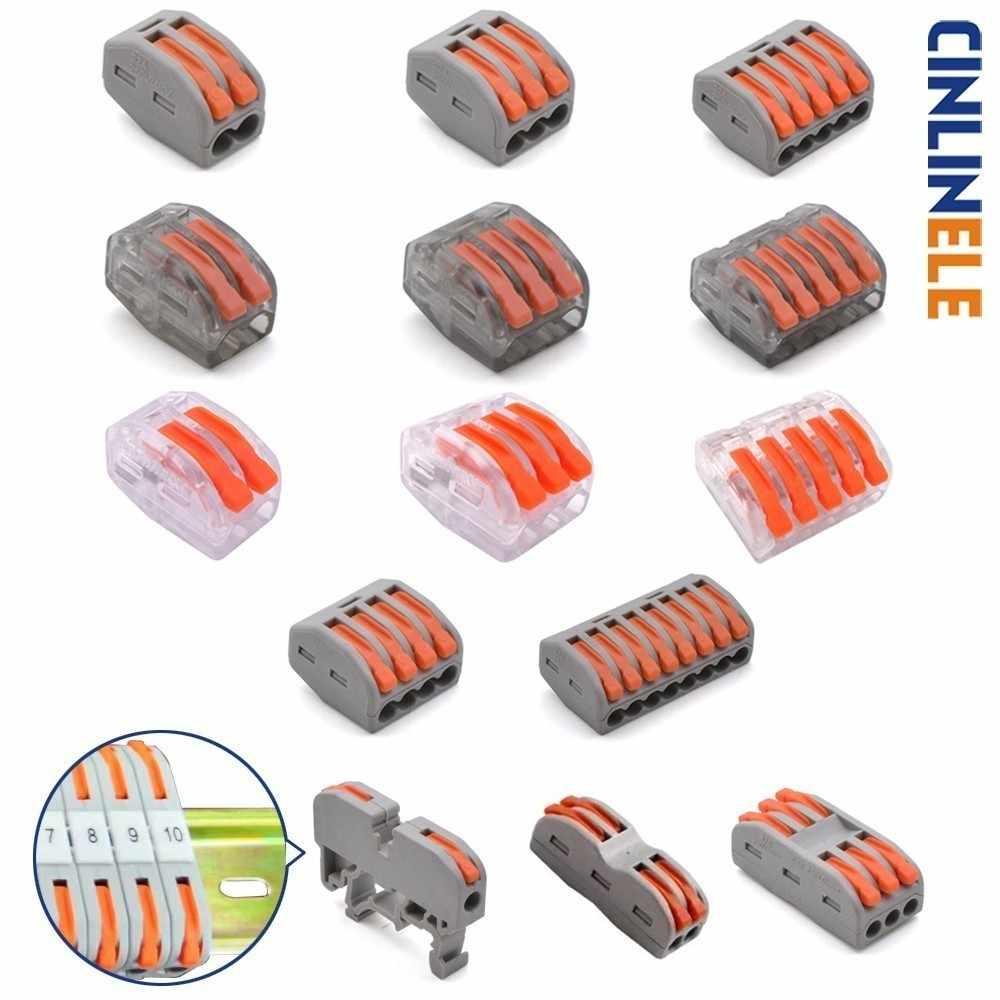 Мини быстрой зарядки универсальный компактный проводной проводки автомобильный разъем, клемма блока 222-412 222-413 222-415 212 213 215 221