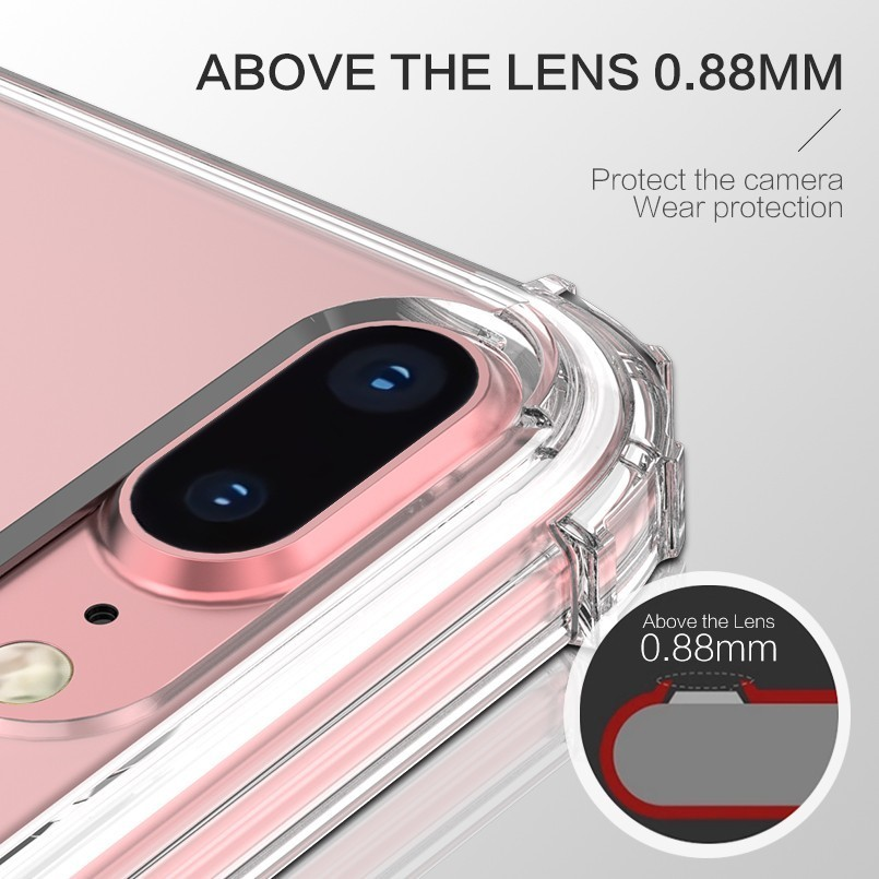 ASINA Transparent TPU Phone Case For iPhone X XS XR XS Max 8 7 6 6S Plus Luxury Shockproof Bumper Silicone Case Coque Fundas in Fitted Cases from Cellphones Telecommunications