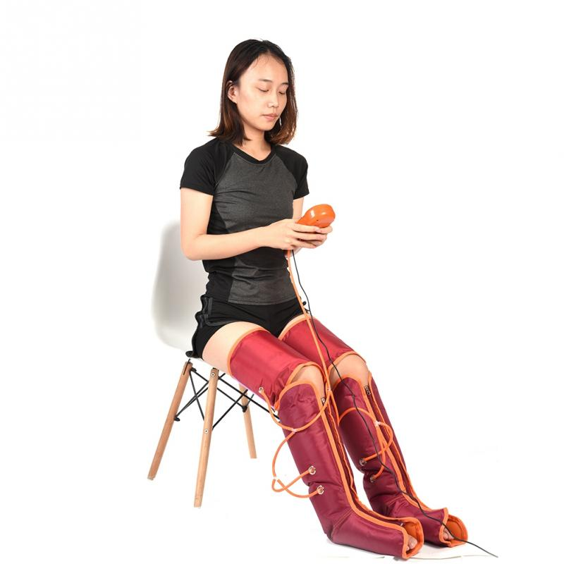 Air Compression Electric Arm Leg Calf Massager Promote Blood Circulation Arm Leg Wraps Pain Relief Body Muscle Therapy Machine vibration infrared therapy air compression body massager waist leg arm relax instrument promote blood circulation pain relief
