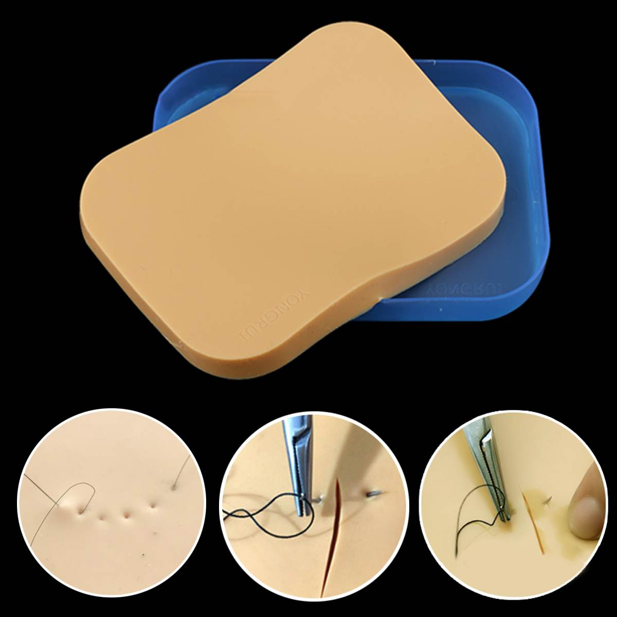 15X11X1.1cm Surgical Sutured Practice Training Skin Model Silicone Simulation Skin Model School Educational Medical Supply New