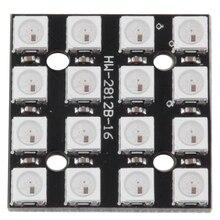 WS2812B 16-Bit 4*4 Full Color 5050 RGB LED Lamp Panel RGB light source module For Arduino цена