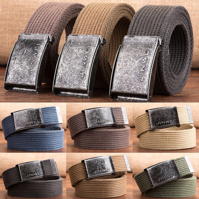 Men Fashion Casual Outdoor Sports Military Tactical Nylon Waistband Canvas Web Belt Dazzling