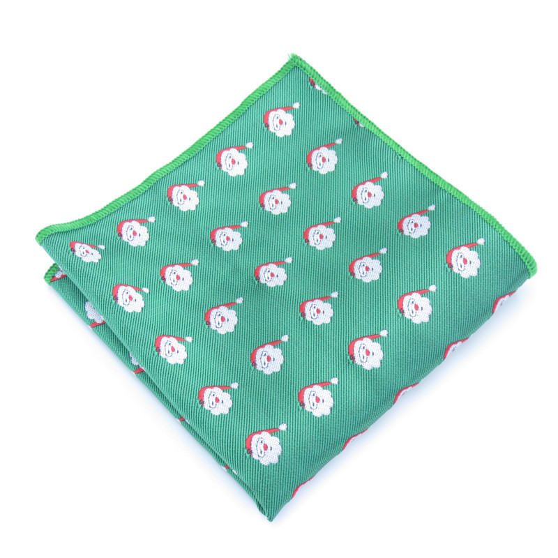 Casual Christmas Floral Printed Handkerchief For Mens Suit Pocket Square Wedding Party Hankies For Men Brand Small Pocket
