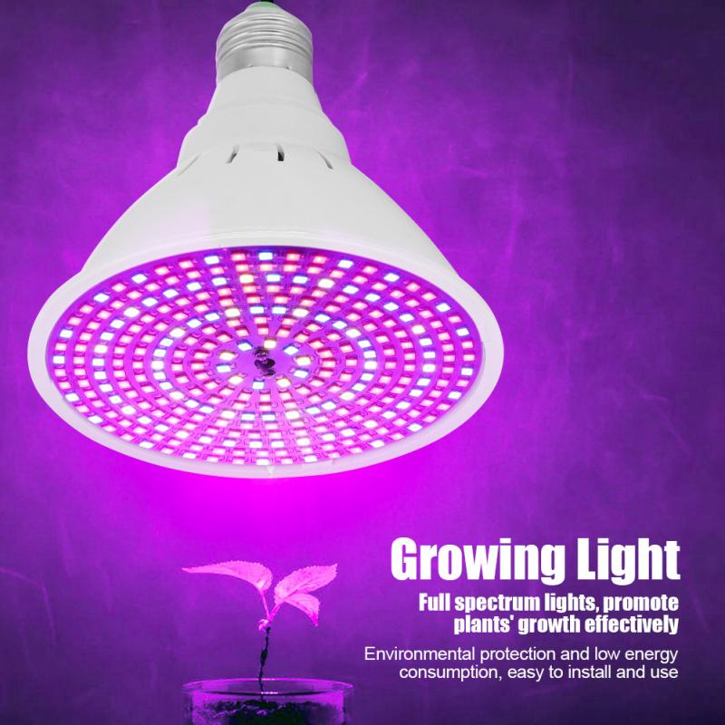 290 LED E27 8W LED Plant Growing Light Lamp Indoor Shed Plants Full Spectrum Phyto Grow Lamp Greenhouse Grow Tent 85-265V AC