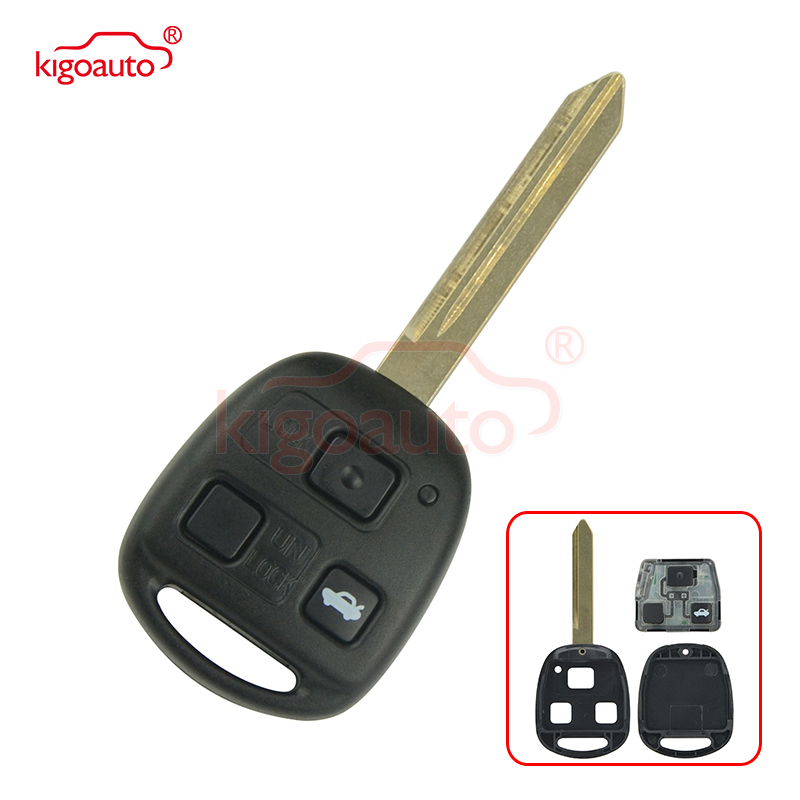 Kigoauto 736670 A Remote key 3 button no chip TOY47 434mhz for Toyota Avensis 2004 2005 2006 2007 2008 2009|Car Key| |  - title=