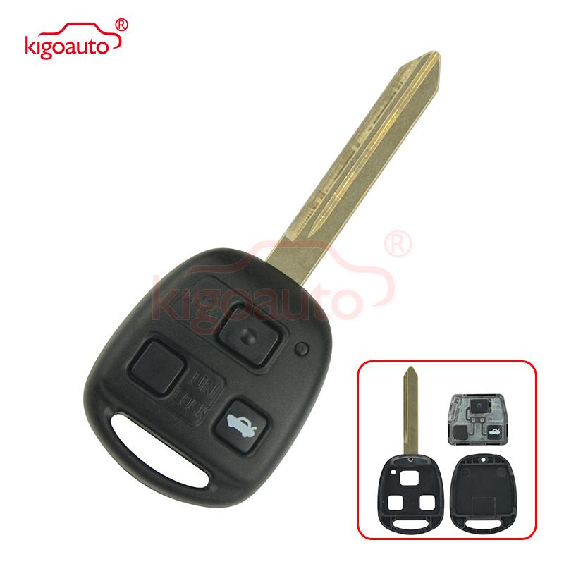 Kigoauto 736670-A Remote key 3 button no chip TOY47 434mhz for Toyota Avensis 2004 2005 2006 2007 2008 2009
