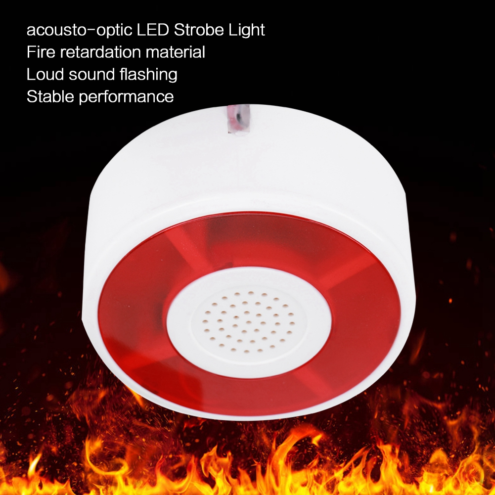 Security & Protection Security Alarm Dc 12v Led Flashing Lamp Security Alarm Strobe Signal Warning Light Siren With Acousto-optic Alarm System Sturdy And Durable