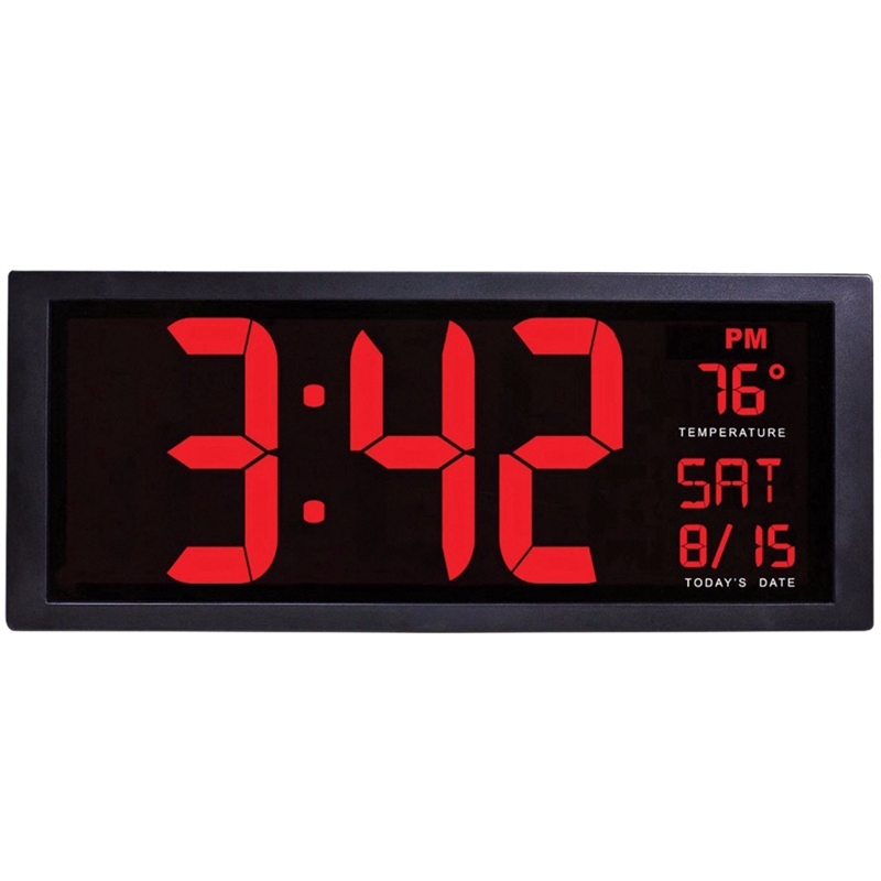 Large Screen Big Electronic Wall Clock Desktop Led Digital Calendar Clock Thermometer Daylight Saving For Kitchen