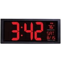 Large Screen Big Electronic Wall Clock Desktop Led Digital Calendar Clock Thermometer Daylight Saving For Kitchen Clock Mural