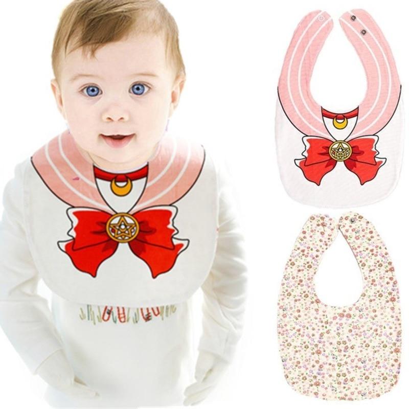 Baberos de bebé lindo Sailor Moon patrón niño bebé impermeable ...
