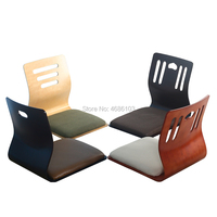 2019 New 2pcs Japanese Legless Chair Asia Style Japan Floor Seating Furniture Coffee japanese floor chair living room chair
