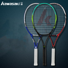 Kawasaki Tennis Racket Carbon Tennis Racquet With Bag Overgrip Tennis String Tenis Masculino Trainer Raqueta Tenis Padel Racket(China)