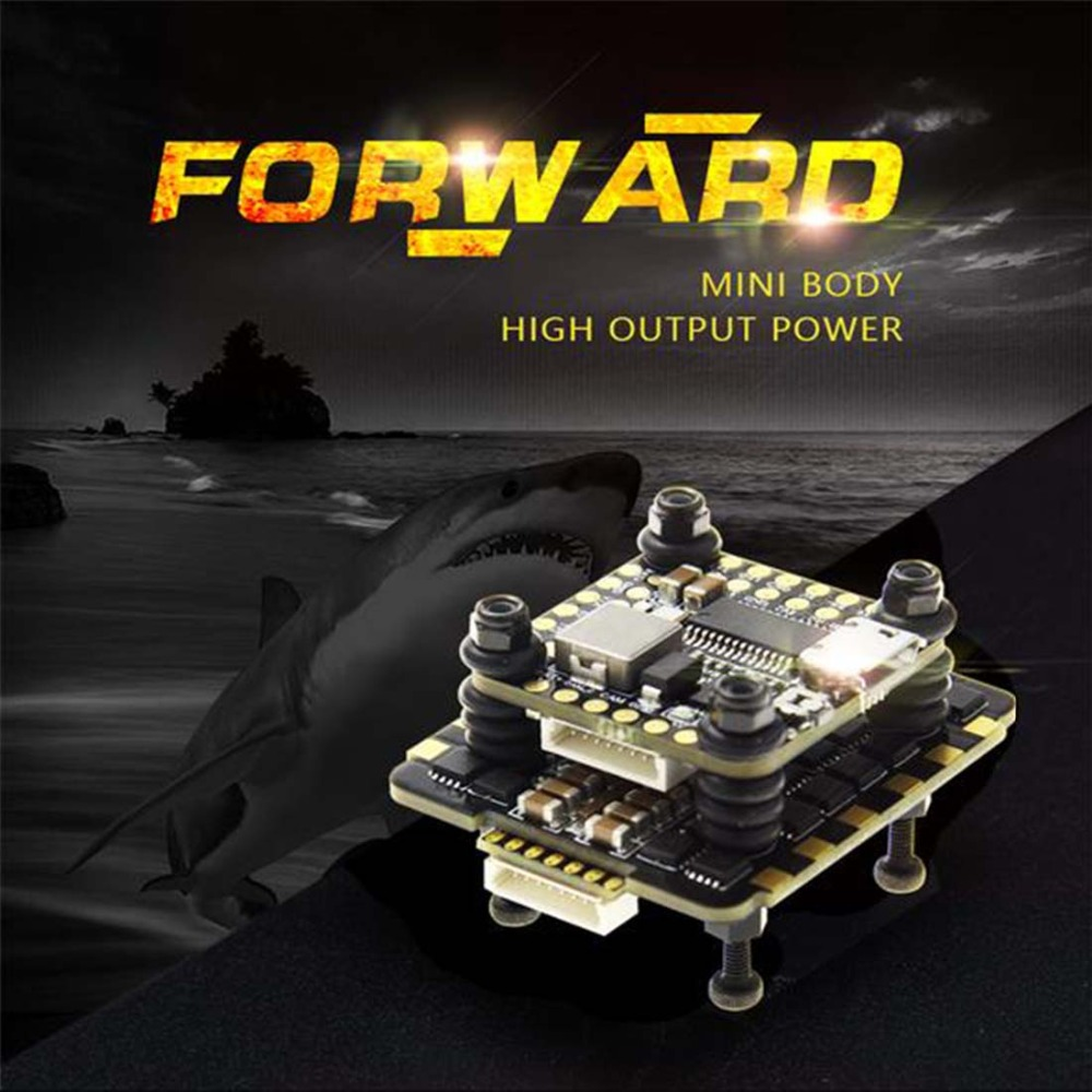 HGLRC FD445 pile FD F4 Mini carte de commande de vol FD45A 4 en 1 Mini BLHeli_32 2-6 S Lipo 45A sans balai ESC 20x20mm accessoire