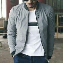 Новая мужская куртка-бомбер на молнии, мужская повседневная Уличная куртка в стиле хип-хоп, приталенная куртка-пилот, Мужская одежда, большие размеры