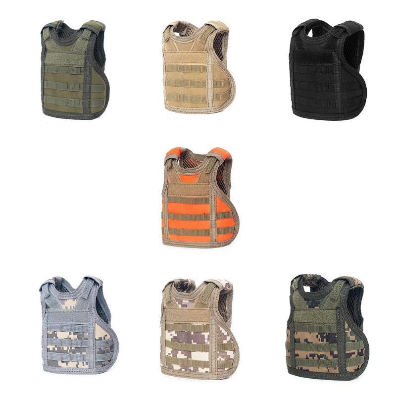 Tactical Premium Beer Military Molle Mini Miniature Hunting Vests Beverage Cooler Adjustable Shoulder Straps For Bottle Decor