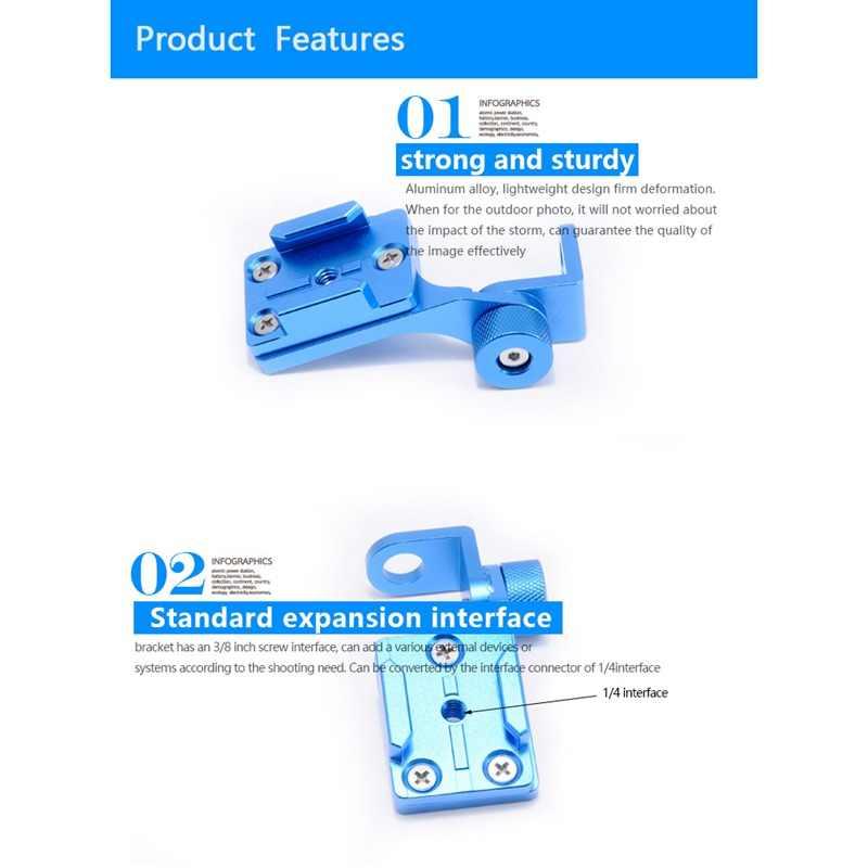 Алюминиевый держатель для крепления зеркала заднего вида для GoPro Hero 4 5 3 2 Xiaomi yi SJ4000 SJ5000 аксессуары для камеры