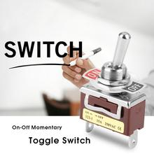 original new 100% united states import ms90310 221 gold pin toggle switch 2pin on off 15A 250V On-Off Momentary Toggle Switch Rocker Switch 2 Pin 2 Position Toggle Switch 12mm for Home Appliance Industrial Control