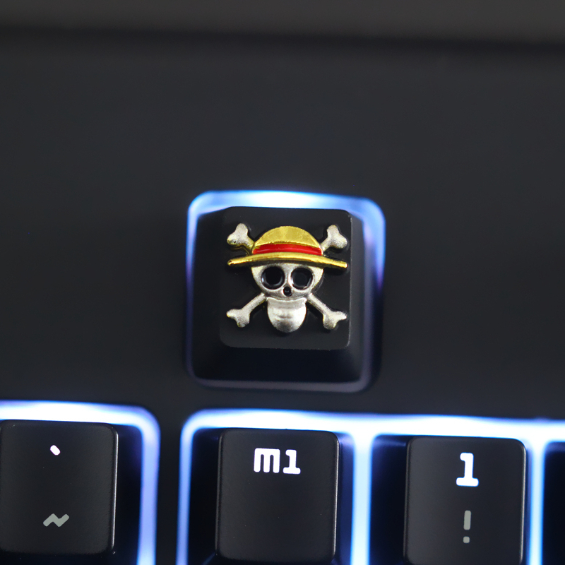 1pc Zinc-plated Aluminum Alloy Key Cap For ONE PIECE LUFFY THOUSAND SUNNY Mechanical Keyboard Stereoscopic Relief Keycap R4