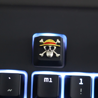 1pc zinc plated aluminum alloy key cap for ONE PIECE LUFFY THOUSAND SUNNY Mechanical keyboard Stereoscopic relief keycap R4|Keyboards| |  -