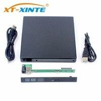 12.7mm USB 2.0 SATA 휴대용 광학 드라이브 케이스 키트 외부 모바일 인클로저 DVD/CD-ROM 케이스 노트북