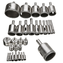 Hot Sale 15pcs 6mm-50mm Diamond Coated Drill Bits Set Tile Marble Glass Ceramic Hole Saw Tools diamond tipped coated hole saw core drill bits glass tile granite marble 6mm