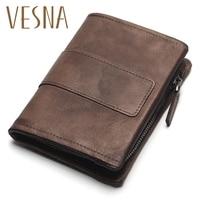 TAUREN New Short Wallet Women Coin Wallets Men Coin Purse Genuine Leather Lady Zipper Design With Coin Purse Pockets Short Walet