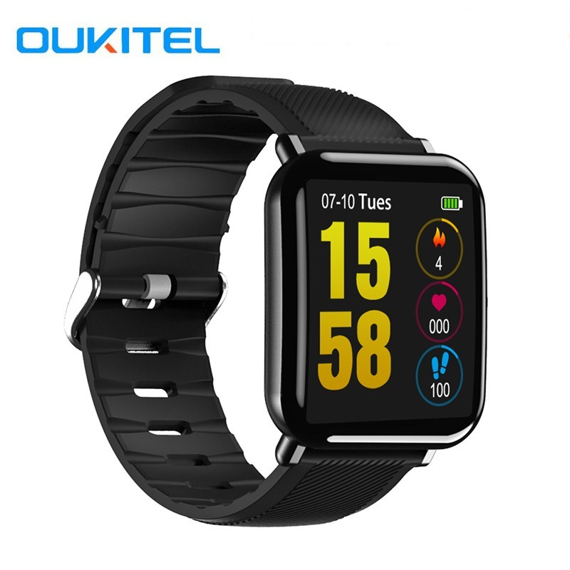 OUKITEL W2 Smart Watch Heart Rate Sleep Monitoring Pedometer Remote Camera 1.3 inch Sports IP67 Waterproof Watch For IOS Android image