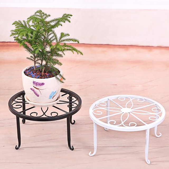 Creative 24x24x13cm Indoor Outdoor Plant Stand Metal Flowerpot Stand