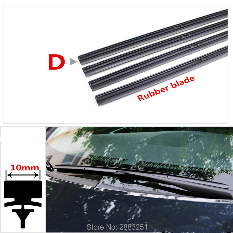 Free shipping Car Windshield Wiper Blade Insert Rubber strip (Refill) for <font><b>renault</b></font> <font><b>koleos</b></font> kadjar 2017 2018 Wiper accessories image