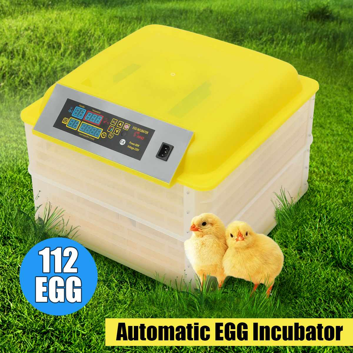 100 w 112 Ovos de Incubação Nascedouro Incubadora Eletrônico Digital de Dupla Camada Automático de Frango E Pato Pombo Incubadora 110 v/ 220 v