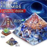 Reiki Custom Orgone Pyramid 7cm bottle edge Healing Pyramid Amethyst Pyramid Crystal Crafts Ornament Crafts Lucky Gifts