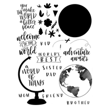 globe Transparent Clear Silicone Stamp/Seal for DIY scrapbooking/photo album Decorative clear stamp