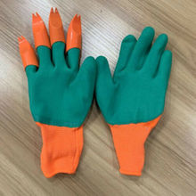 Garden Gloves For Digging&Planting With 4 ABS Plastic Claws Gardening Hot Quick Easy to Dig and Plant For Digging Planting