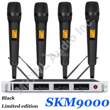MiCWL SKM9000 4x100 Channel Wireless Microphone System Black 4 Champagne Gold Color Limited Edition Beige Headset Lavalier