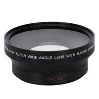 67 мм 0.43X Широкий формат макро объектив с макро объектив для Nikon D200 D100 D2H D80 D50 D70 D70S D90 Canon 550D 600D 650D 1100D 5DII 7DII