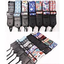 цена на Ukulele Belt Adjustable Colorful Printing PP Fiber Ukulele Straps Thickened National Ukelele Hawaii 4 Strings Guitar Strap Belt