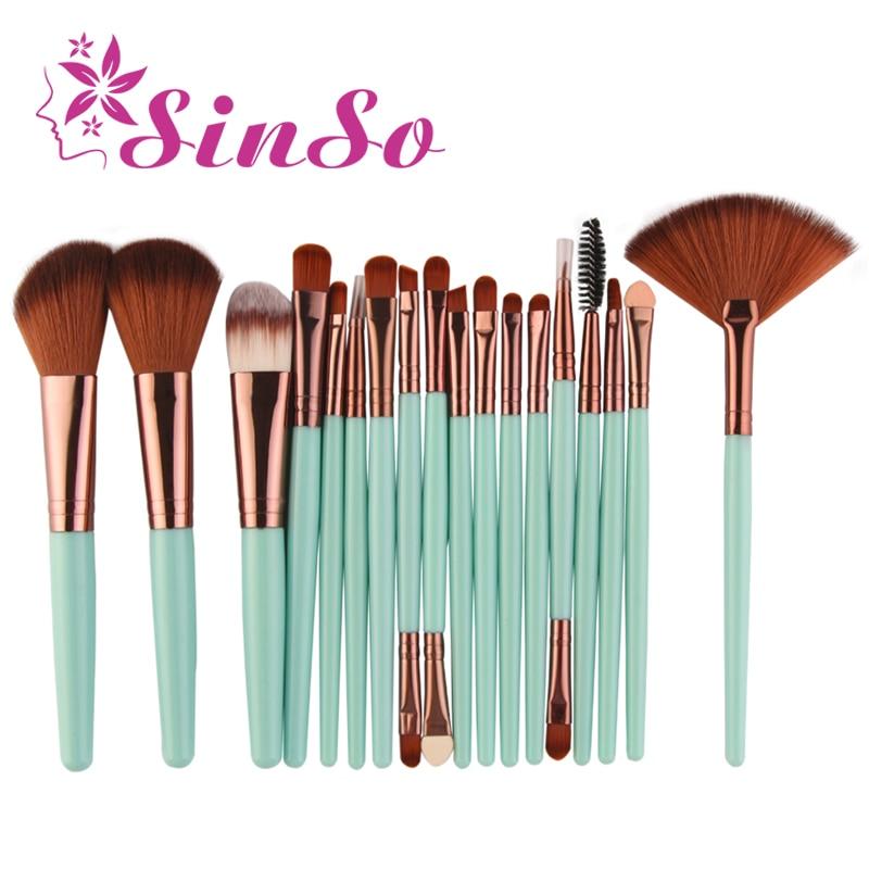 SinSo Makeup Brushes Tool Set 18pcs Professional Powder Eye Shadow Foundation Blush Eyebrow Poeder Cosmetics Make Up Brush Kit