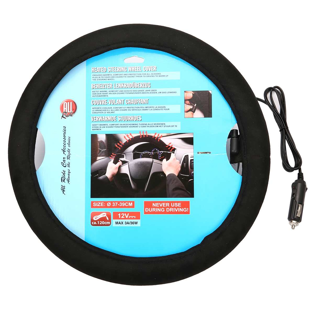 Universal 38cm Steering Covers Heater 12V Car Steering-Wheel Cover Winter Warm Comfortable Heated Heating Steering Wheel Cover