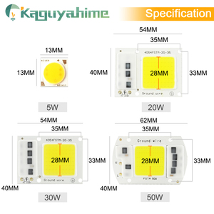 Image 3 - Kaguyahime AC 220V Integrated COB LED Lamp Chip 50W 30W 20W 10W 5W Smart IC Driver For DIY Floodlight Spotlight Projector Grow