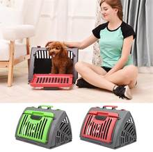 Pet Carrier For Dogs Cat Folding Cage Collapsible Crate Handbag Plastic Carrying Bags Pets Supplies Sac De Transport Pour Chien(China)
