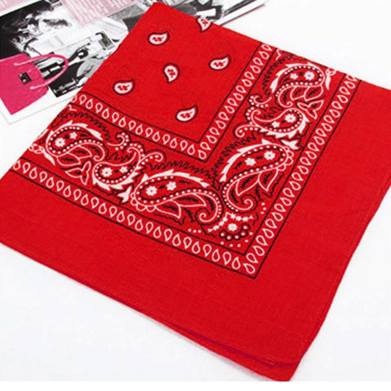Outdoor Riding Printing Handkerchief Cotton Wristband Hip Hop Style Head Wrap Kerchief Drop Shipping#137