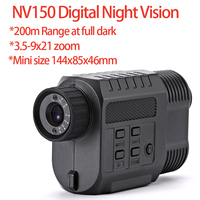200M Range IR Infrared Night Vision Monoculars 640X480 resolution LCD Display Mini Size Night Hunting Scope Cameras