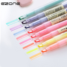 EZONE 1PC Dual-Side Highlighter Pens For Writing Marker Children Painting Graffiti Colored Marking Fluorescence Pen Stationery