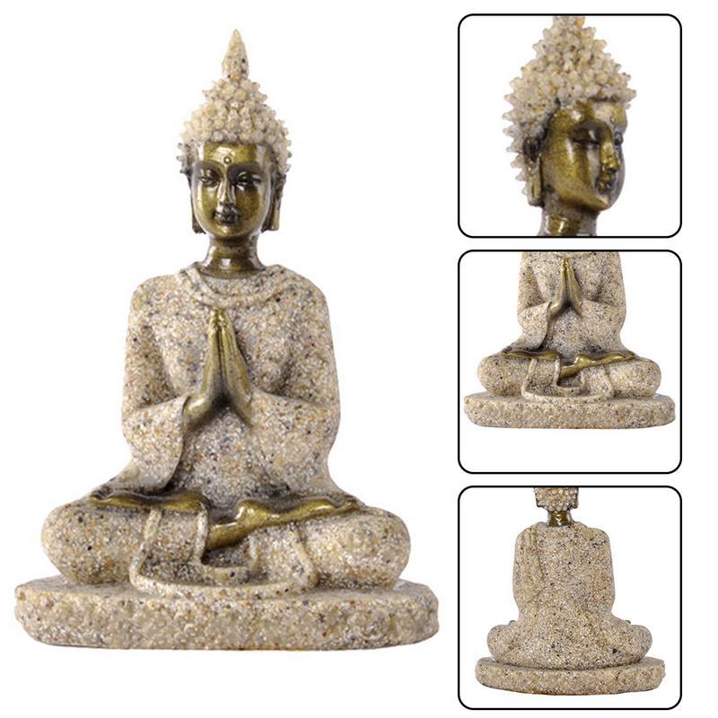 Sandstone Golden Buddha Statue 6